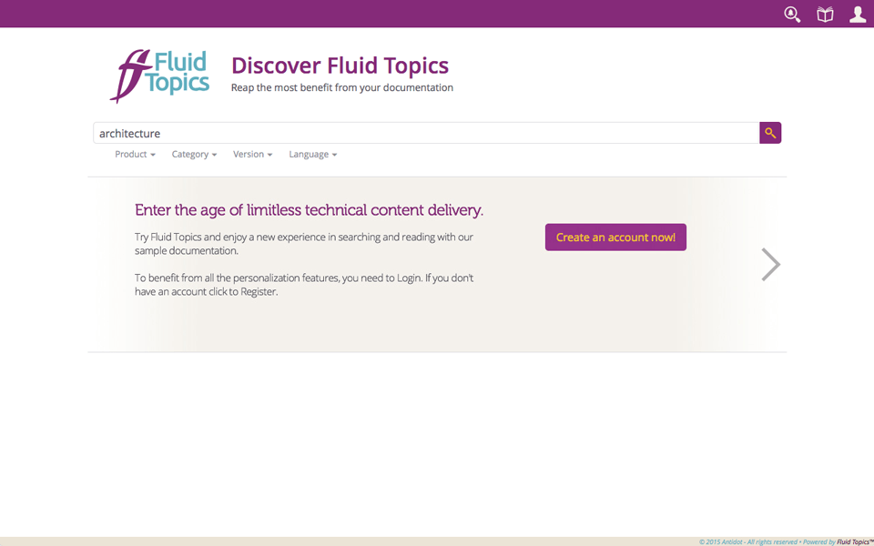 Fluid Topics Trial